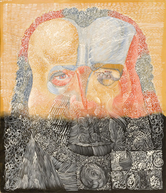 Philip  Akkerman, Oil on masonic panel, Self-portrait 2010 no. 21, 2010