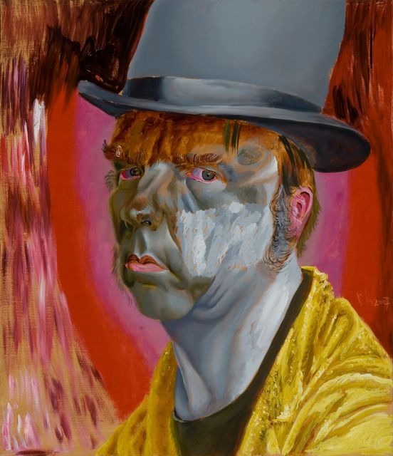 Philip  Akkerman, Oil on masonic panel, Self-portrait 2007 no. 52, 2007
