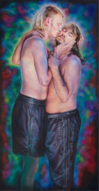 Anya Janssen, Oil on canvas, The Kiss, 2021